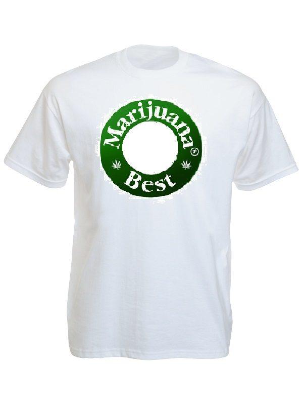 Tee-Shirt Blanc Marijuana Best Amusant Parodie la Marque