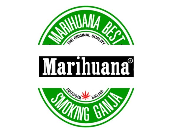 Tee-Shirt Blanc Marihuana Smoking Ganja Holland Manches Courtes