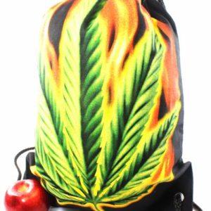 Sac à Dos Cannabis Fermeture Ficelle Tissus Léger Résistant