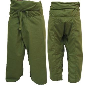 Pantalon Pêcheur Thaï Kaki