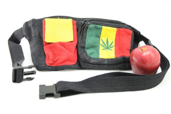 Sac Banane Chanvre Poches Marijuana Couleurs Rasta