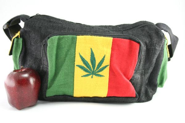 Sac Chanvre Grande Taille Bandoulière Feuille de Cannabis