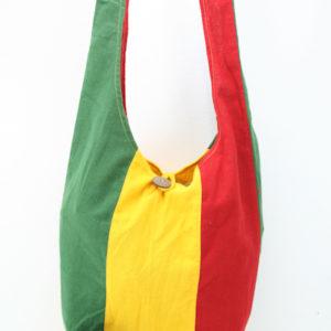 Sac Hippie Petite Taille Bandoulière Bouton Vert Jaune Rouge