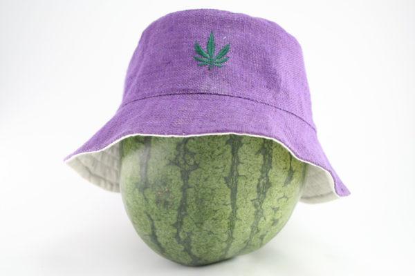 Bob Rasta Violet Feuille de Cannabis Brodée