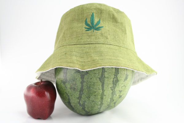 Bob Rasta Vert Kaki Feuille de Cannabis Brodée
