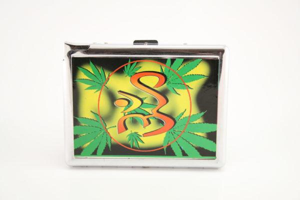 Boîte à Cigarette en Métal avec Briquet