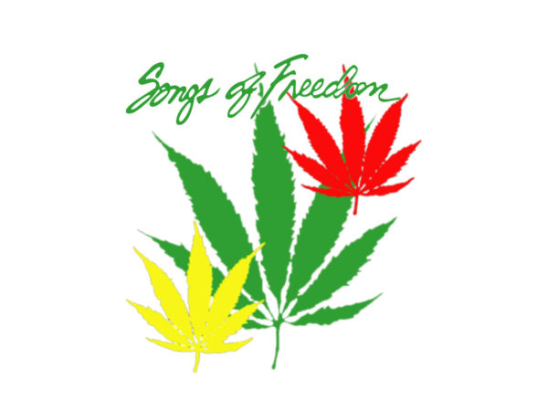 Chansons Bob Marley Tee Shirt Blanc Reggae Songs of Freedom