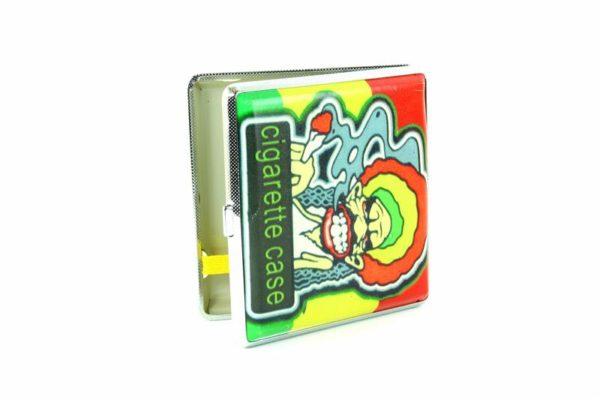 Boîtier Cigarettes Rastaman Fume un Joint