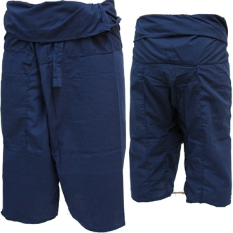 Pantalon Pêcheur Thaï Bleu Marine