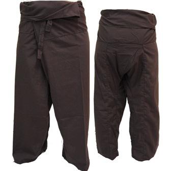 Pantalon Pêcheur Thaï Chocolat