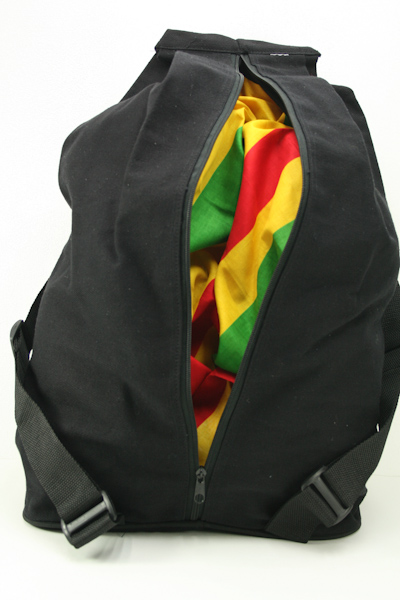 Sac à Dos Noir Photo Rasta Dreadlocks Protection Vol Zip Caché Intérieur Dos
