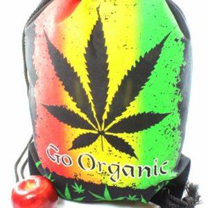 Sac à Dos Cannabis Bio Fermeture Ficelle Tissus Léger Résistant