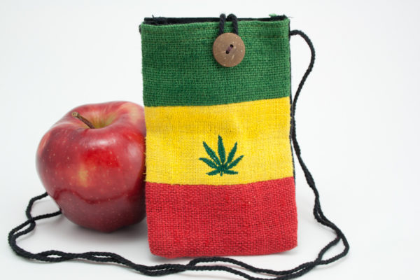 Etui Mobile Chanvre Cannabis Bouton