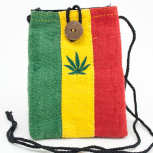 Sac Mobile Chanvre Feuille Marijuana Bouton