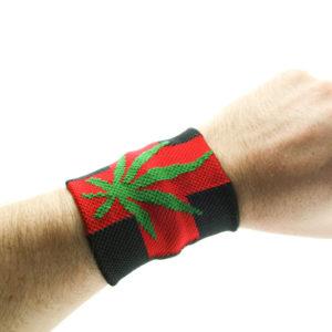 Bandeau de Poignet Croix Rouge Cannabis