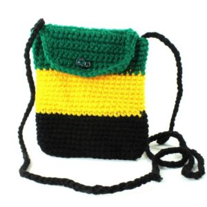 Sac Mobile Drapeau Jamaïcain Bandoulière Bouton