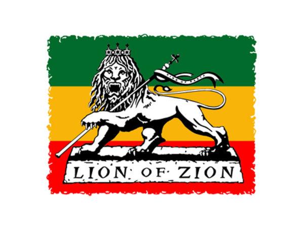 Lion of Zion T-Shirt Rasta Blanc Homme Femme en Coton