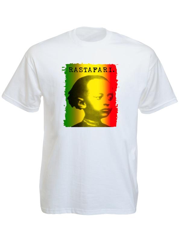 look rastafari tee shirt blanc avec photo de ha l s lassi enfant produits. Black Bedroom Furniture Sets. Home Design Ideas