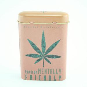 Boîte à Cigarette Marijuana en Métal Marron