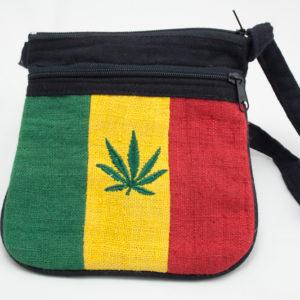 Sac Chanvre Cannabis Bandoulière Zip