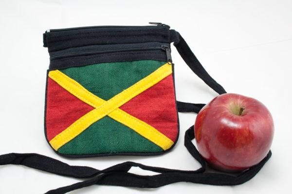Sac Chanvre Drapeau Jamaïcain Bandoulière Zip