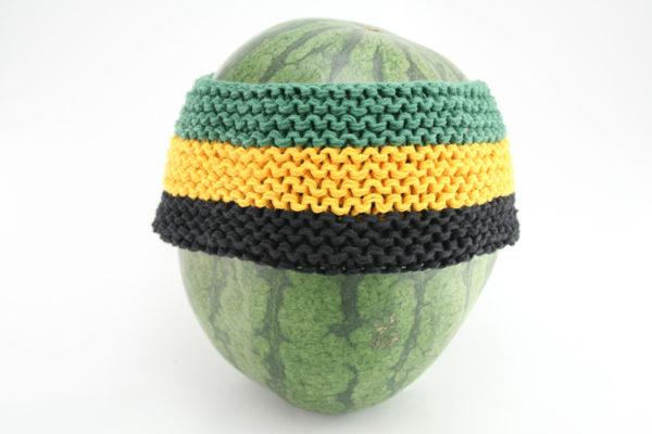 Bandeau Cheveux Jamaïque Vert Jaune Noir 8CM