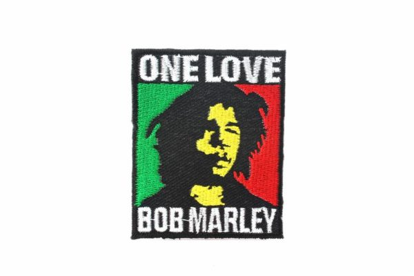 Ecusson Bob Marley One Love à Coudre ou à Coller