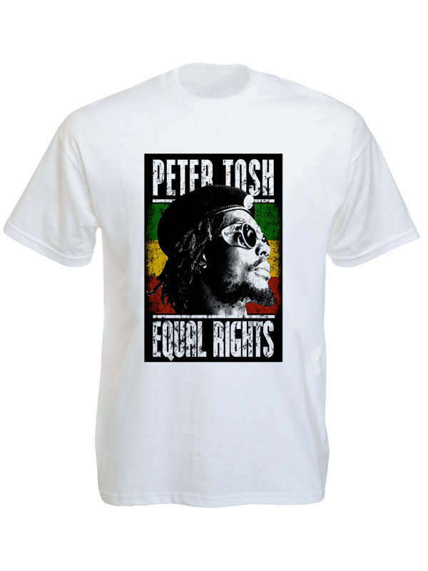Peter Tosh Tee Shirt Blanc Coton Reggae Album Equal Rights
