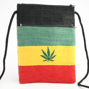 Sac Passeport Chanvre Feuille Cannabis Zip