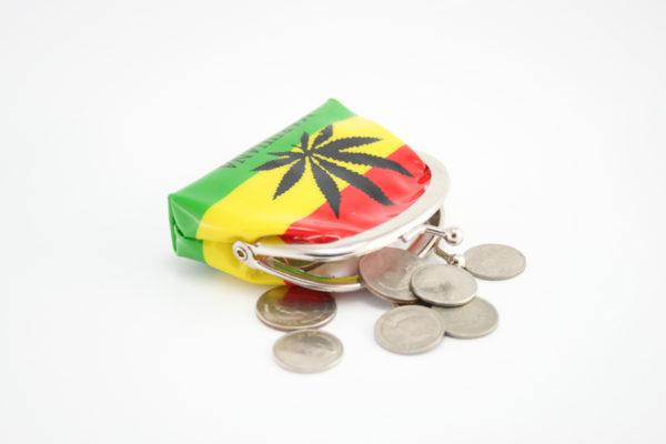 Porte-Monnaie PVC Marijuana Vert Jaune Rouge