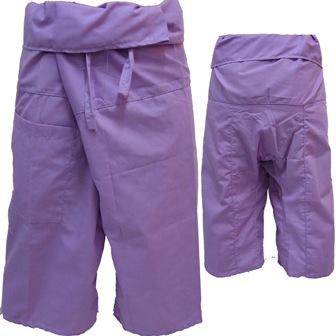 Pantalon Pêcheur Thaï Mauve