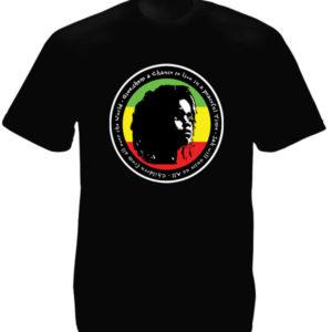 Rasta Baby T-Shirt Noir en Coton Bio Pacifiste pour Homme