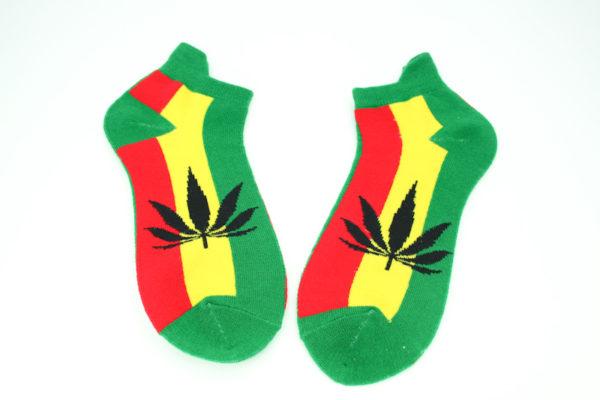 Chaussettes Feuille Cannabis Courtes Toutes Tailles