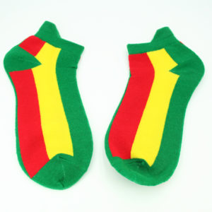 Chaussettes Courtes Bandes Rasta Toutes Tailles