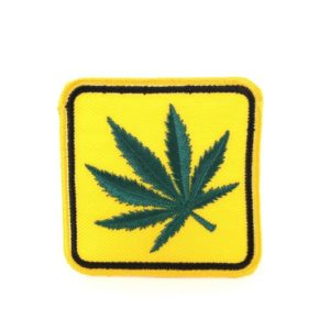 Ecusson Cannabis Panneau Signalisation Jaune