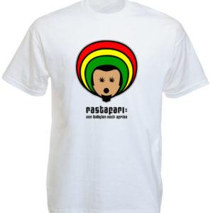 Rastafari Tee Shirt Blanc Départ de Babylon pour l'Afrique