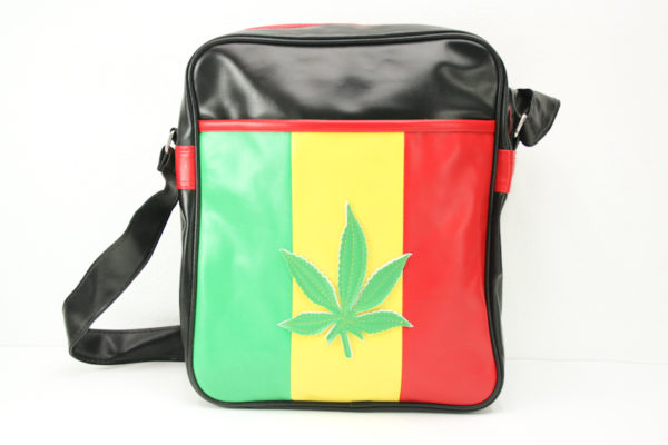 Sac Vinyl Grande Taille Bandoulière Feuille Weed