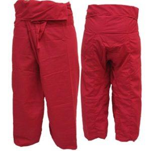 Pantalon Pêcheur Thaï Rouge