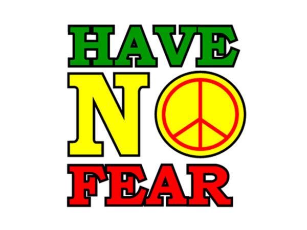 Reggae Tee Shirt Blanc Dennis Brown Have No Fear Manches Courtes