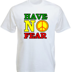 Reggae Tee Shirt Blanc Dennis Brown Have No Fear Manches Courtes