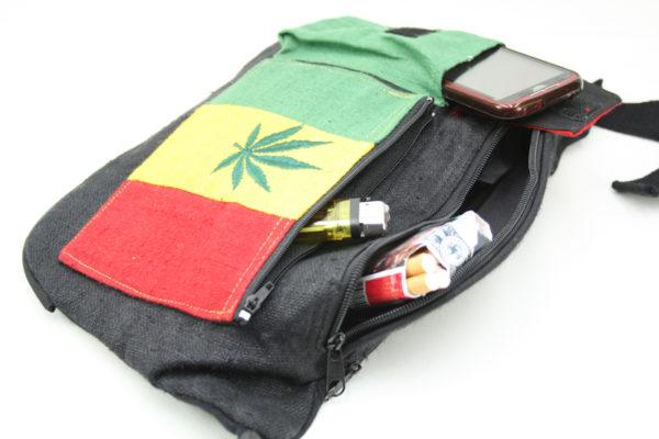 Sac Banane Chanvre Poches Cannabis Vert Jaune Rouge
