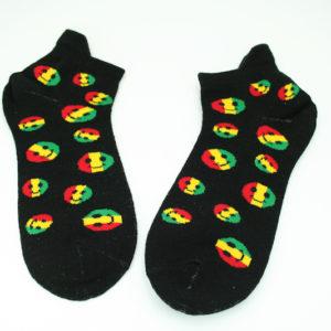 Chaussettes Smiley Noires Courtes Toutes Tailles