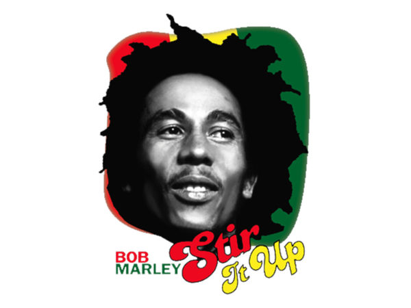 Stir It Up T-Shirt Blanc Collector Bob Marley Manches Courtes