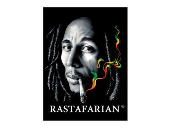 Tee Shirt Blanc Bob Marley Imprimé Génial Fumée Verte Jaune Rouge