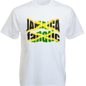 T-Shirt Blanc Homme Jamaica Fanatic Manches Courtes en Coton