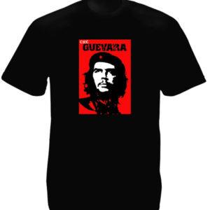 T-Shirt Homme Noir Che Guevara Photo Alberto Korda Manches Courtes