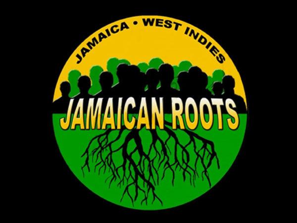 Tee Shirt Jamaïcain Noir Imprimé Vert Noir Jaune Manches Courtes