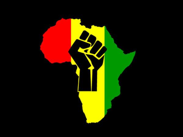 Tee Shirt Noir Afrique Unie Couleurs Panafricaine Manches Courtes