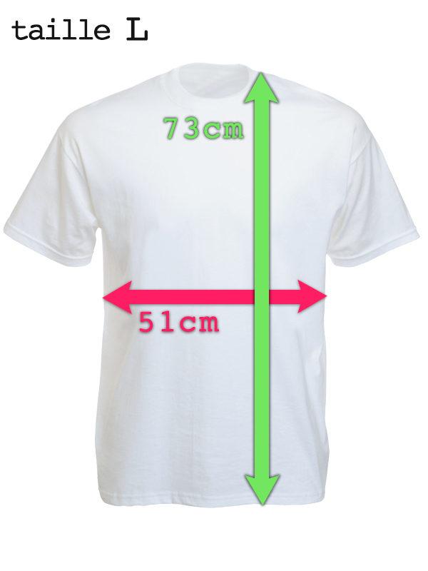 T-Shirt Blanc Impression Noire Tibétain Dalaï-lama Manches Courtes