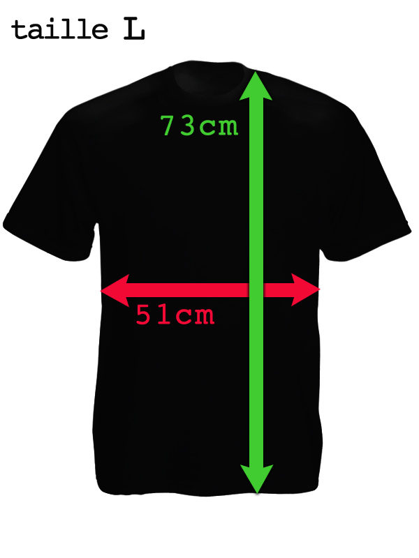 Tee-Shirt Noir Homme Chine Quitte le Tibet Taille Large Col Rond